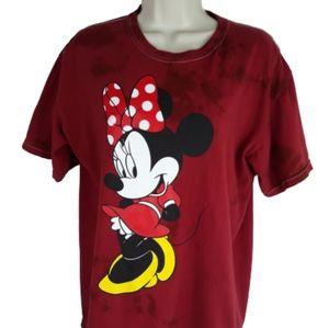 Disney women's Minnie Mouse tee size medium red